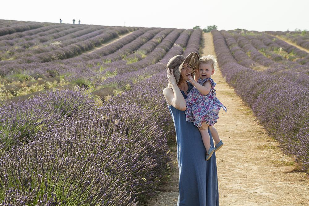 standing in lavender field